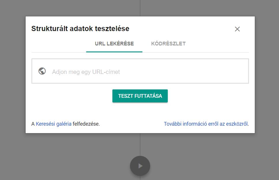 Google strukturált adat tesztelőeszköze