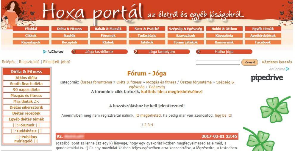 Hoxa - Jóga fórum