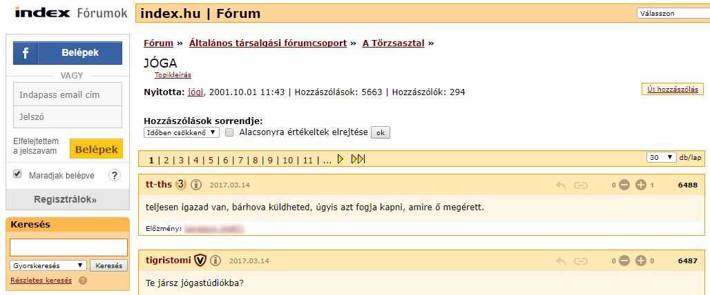 index.hu - Jóga fórum