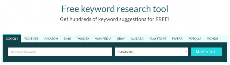 Keyword.io - kulcsszókutató eszköz