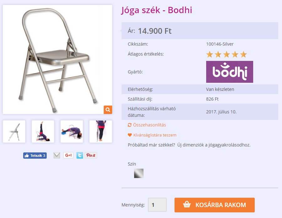 Yogabazaar termékoldal